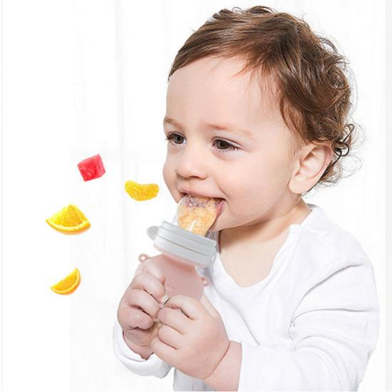 silicone fruit and vegetable bite teether