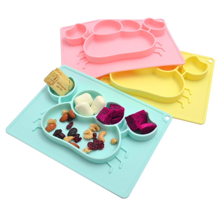 Silicone plate-more suitable tableware for babies